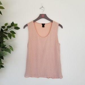 Ann Taylor Factory Pink Polka Dot Sleeveless Top